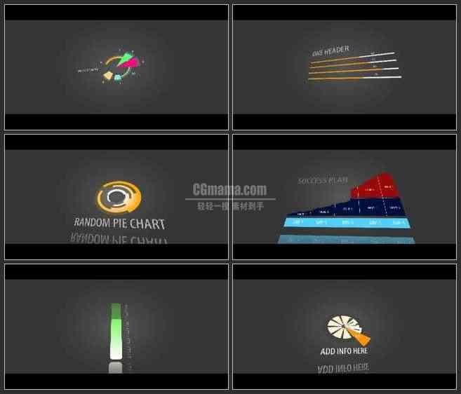 AE3147-各种数据图表 企业分析宣传片