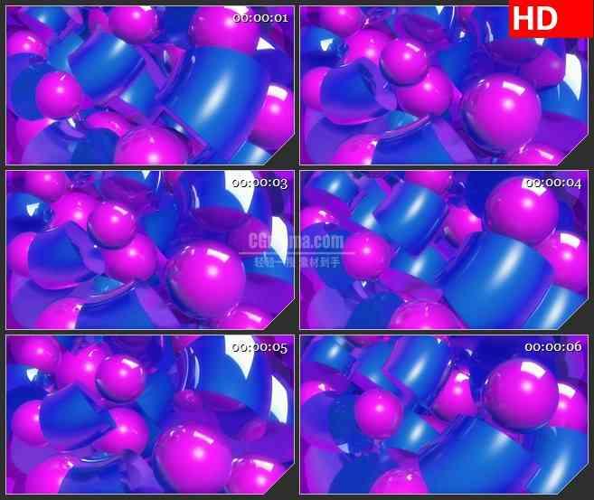 BG2014紫色小球旋转高清led大屏视频背景素材