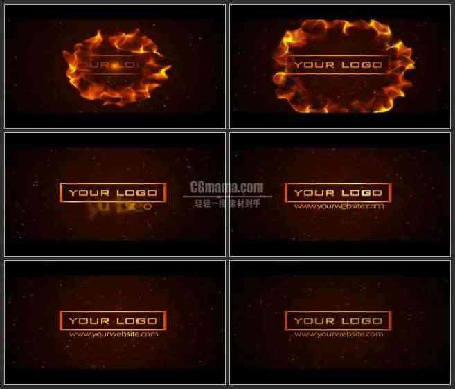 AE3170-火焰背景 LOGO展示 片头