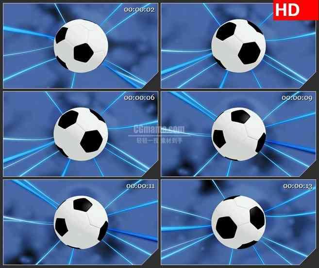 BG2019足球旋转蓝色光条背景体育动态LED高清视频背景素材