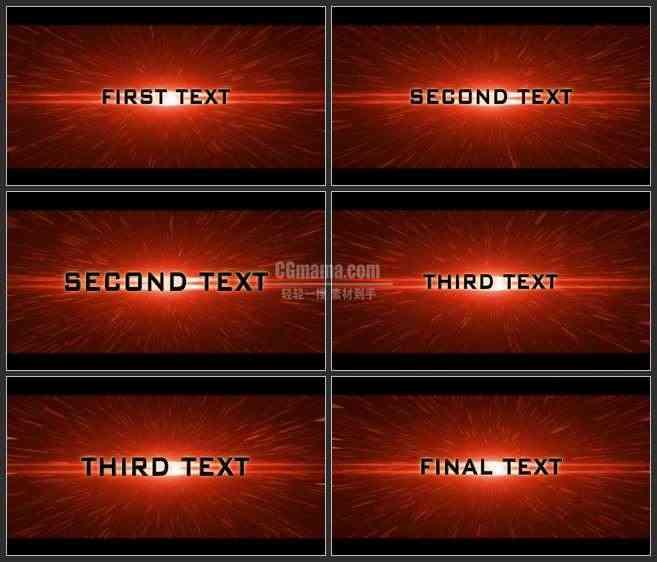 AE3201-强冲击力 爆炸字体 文本展示 宣传片