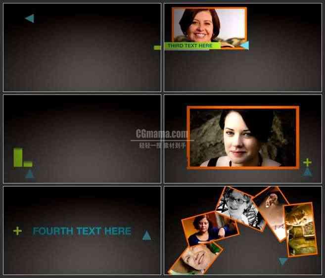 AE3214-几何图形二维动画 图文展示 宣传片