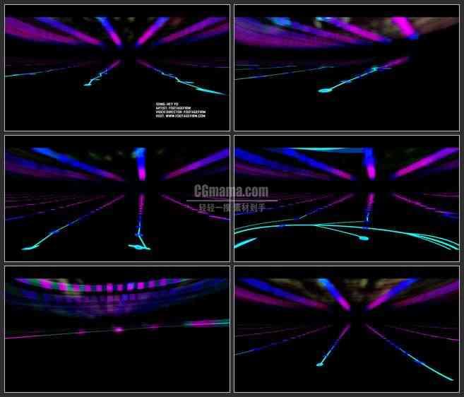 AE3224-LED舞台背景 音乐素材 抽象图形