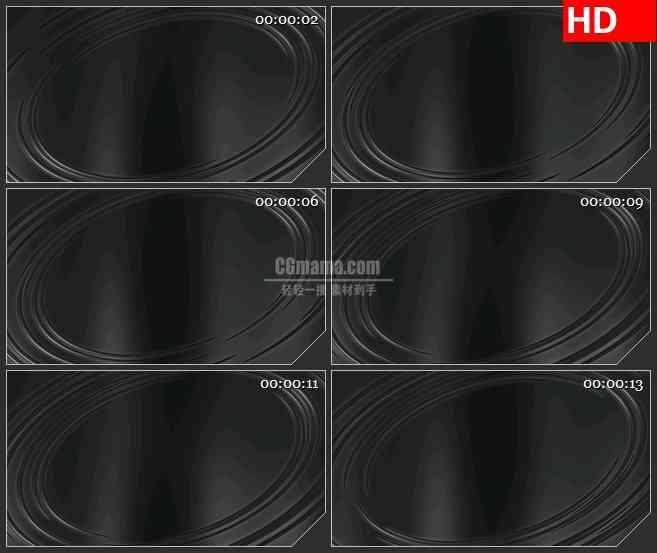 BG2025白色半透明圆环边框转动黑色背景带透明通道动态LED高清视频背景素材