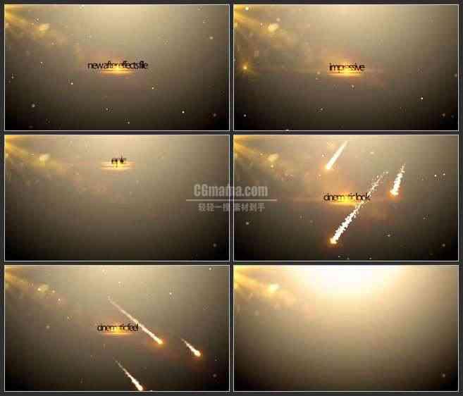 AE3227-滑落的流星 文本展示 宣传片