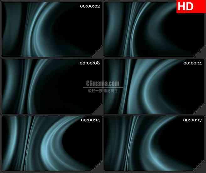 BG2054淡蓝色幽光光晕飘动黑色背景带透明通道动态LED高清视频背景素材