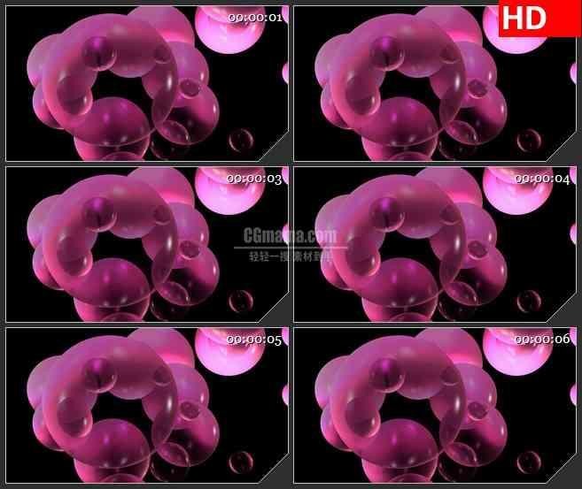 BG2066粉红色三维泡沫旋转动态LED高清视频背景素材
