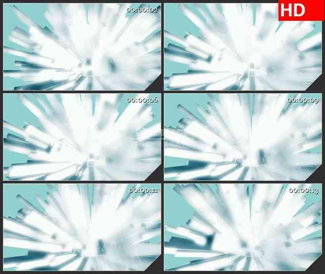 BG2097几何穗状放射状蓝色暖光照耀动态LED高清视频背景素材