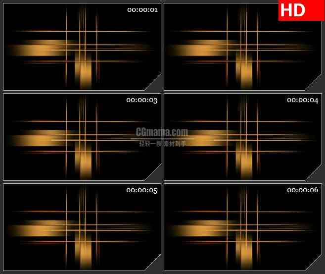 BG2099交叉光线光条黑色背景透明通道合成素材动态LED高清视频背景素材