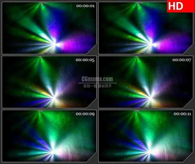 BG2142俱乐部红绿彩色灯旋转动态LED高清视频背景素材