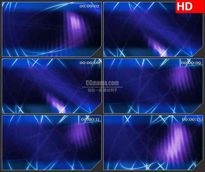 BG2148蓝色交叉旋转光环变换动态LED高清视频背景素材