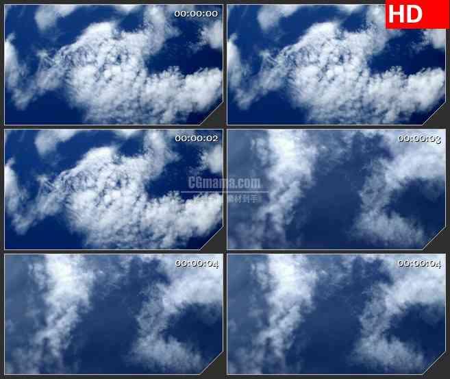 BG2153蓝天白云快速旋转动态LED高清视频背景素材