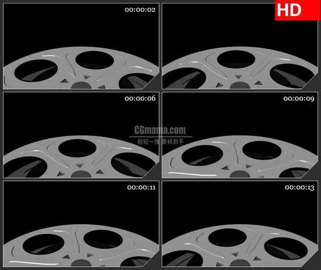 BG2156老电影胶卷膜卷底面旋转灰色背景动态LED高清视频背景素材