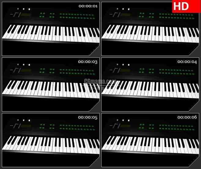 BG2192三维动画电子琴旋转动态LED高清视频背景素材