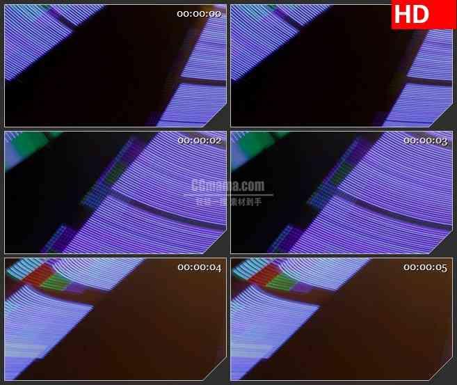 BG2216闪烁LED光条快速变换黑色背景带透明通道动态LED高清视频背景素材
