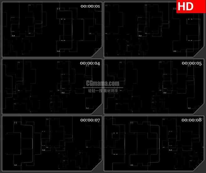 BG2246旋转的复杂白色半透明横盘动态LED高清视频背景素材