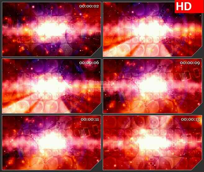 BG2251旋转的吉他摇滚之神红色热烈背景动态LED高清视频背景素材