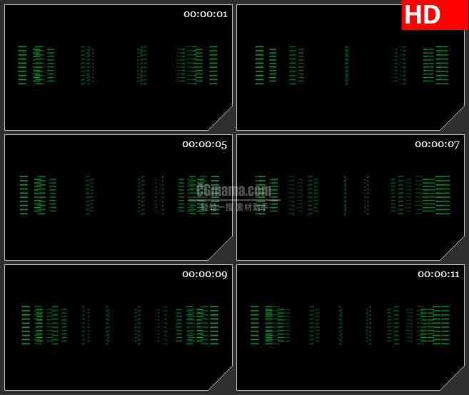 BG2259旋转的绿短线断点旋转黑色背景带透明通道动态LED高清背景素材