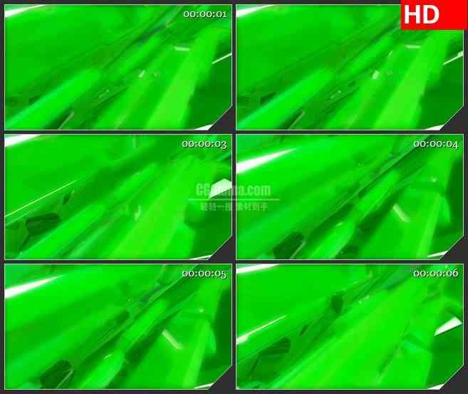 BG2264旋转的绿色抽象立方块动态LED高清背景素材