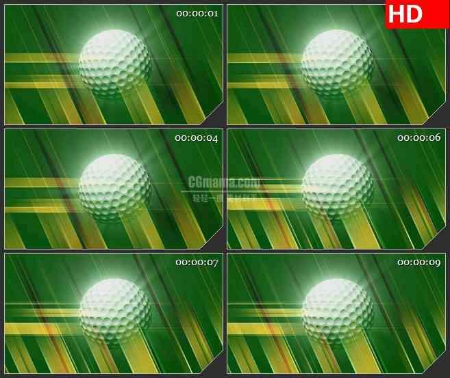 BG2277旋转的三维高尔夫球模型旋转绿色背景动态LED高清背景素材