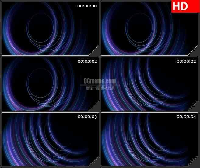 BG2285旋转的紫色和白色光线透明通道动态LED高清视频背景素材