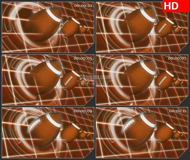 BG2303旋转美式橄榄球白圆网格动态LED高清视频背景素材