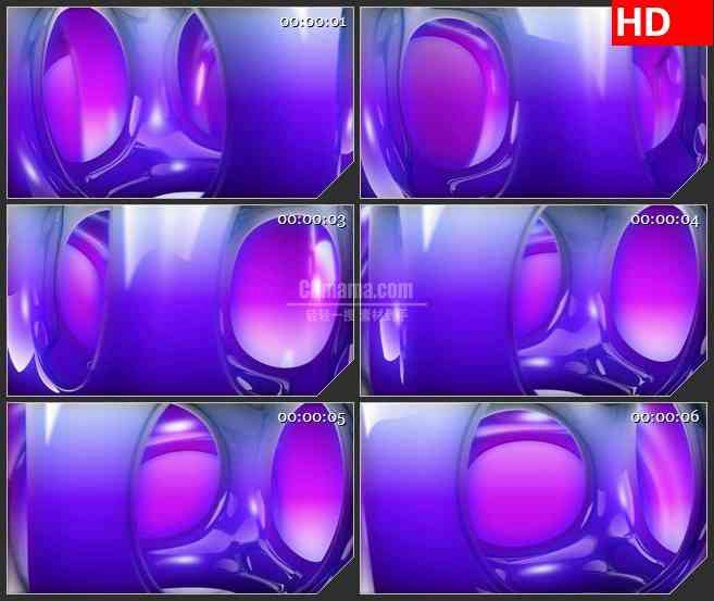BG2312旋转紫色半透明矩形圆孔骰子动态LED高清视频背景素材