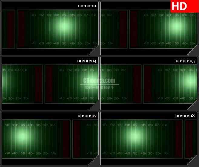 BG2313旋转足球场绿色的光芒动态LED高清视频背景素材