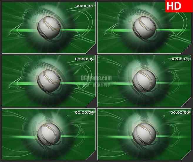 BG2333棒球绿色背景旋转高清led大屏视频背景素材