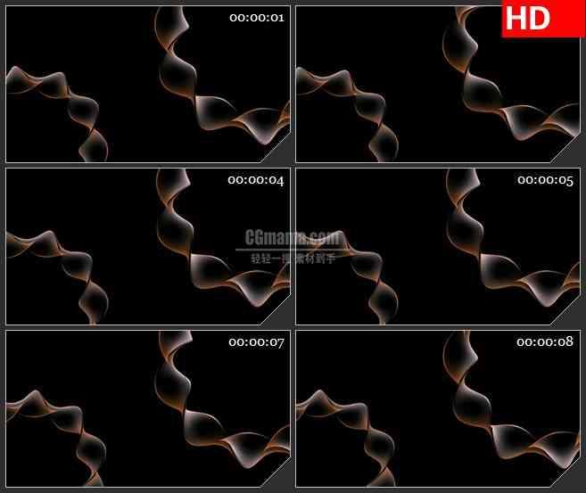 BG2335橙色波浪线条旋转高清led大屏视频背景素材