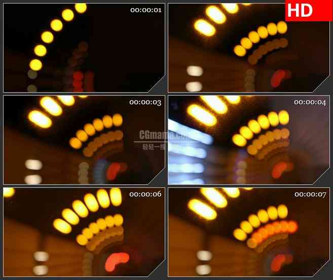 BG2338灯光隧道加快移动高清led大屏视频背景素材
