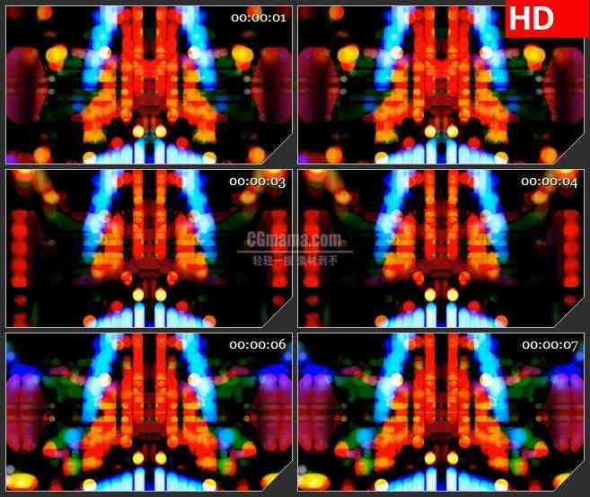 BG2345多色灯光跳跃移动高清led大屏视频背景素材