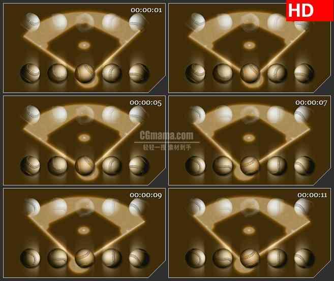 BG2351高尔夫球光影旋转高清led大屏视频背景素材