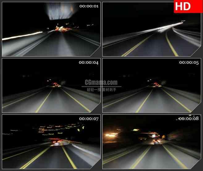 BG2354高速夜晚骑车2高清led大屏视频背景素材