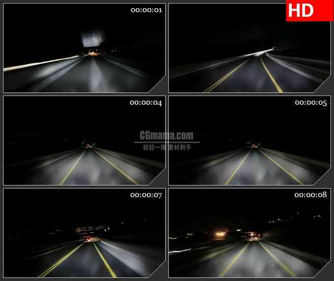BG2357高速夜晚骑车5高清led大屏视频背景素材
