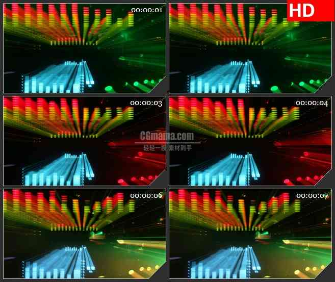 BG2358光谱光显示跳跃移动高清led大屏视频背景素材