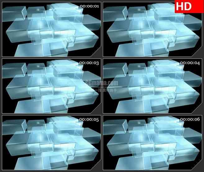 BG2359光透明盒旋转高清led大屏视频背景素材