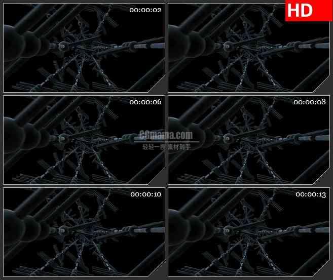 BG2362黑色机械旋转高清led大屏视频背景素材