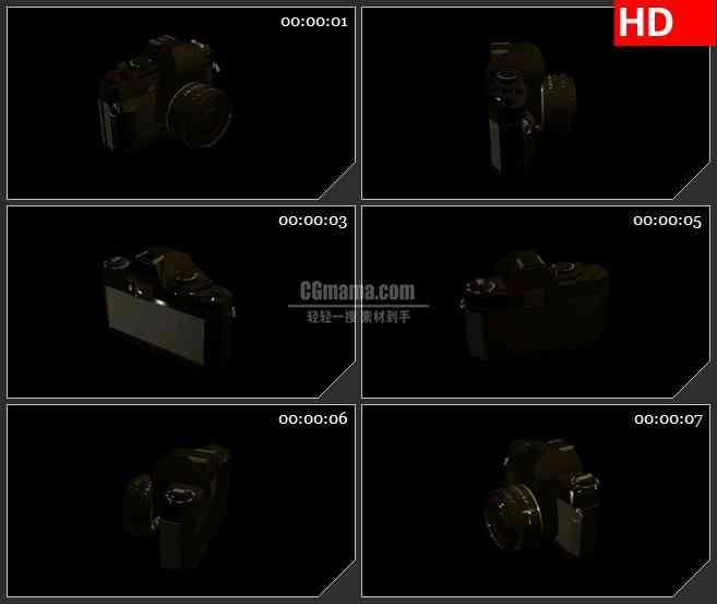 BG2368黑色数码相机旋转高清led大屏视频背景素材