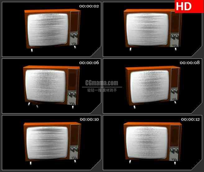 BG2375红色老型电视播放旋转高清led大屏视频背景素材