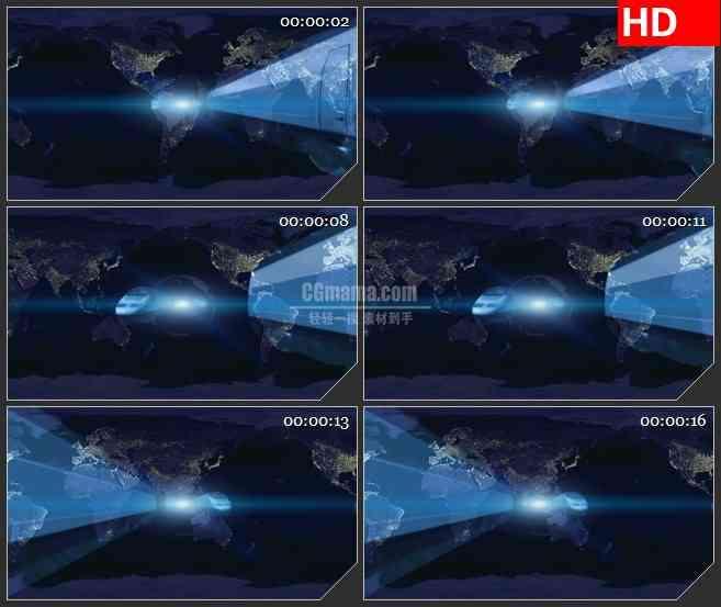 BG2382火车空间行驶地图背景高清led大屏视频背景素材