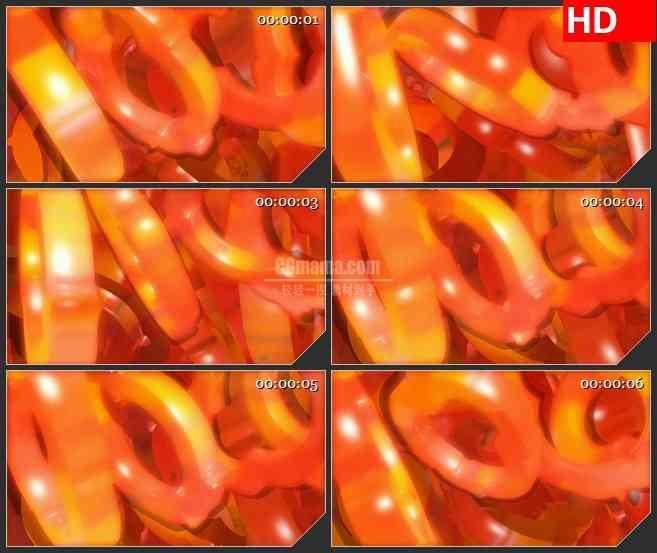 BG2383火红圆环旋转高清led大屏视频背景素材