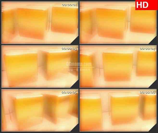 BG2386金色盒子旋转高清led大屏视频背景素材
