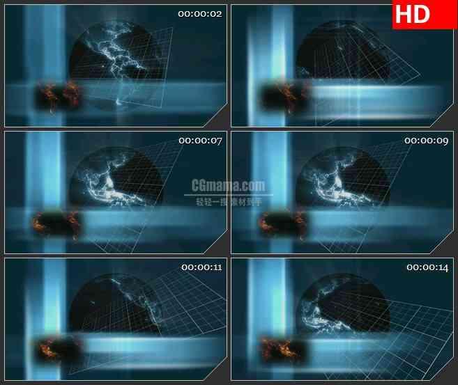 BG2404蓝板旋转高清led大屏视频背景素材
