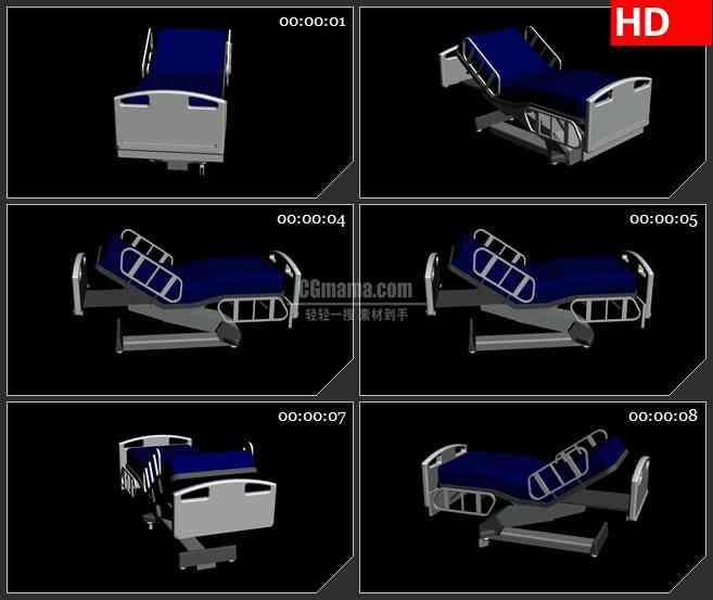BG2408蓝色病床旋转高清led大屏视频背景素材