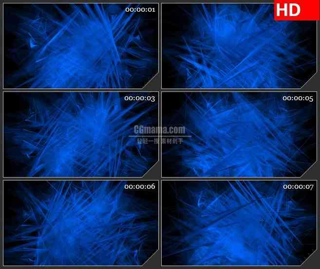 BG2409蓝色玻璃灯荧光旋转高清led大屏视频背景素材