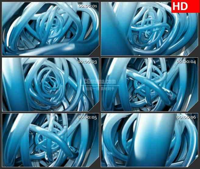 BG2415蓝色光环环绕旋转高清led大屏视频背景素材