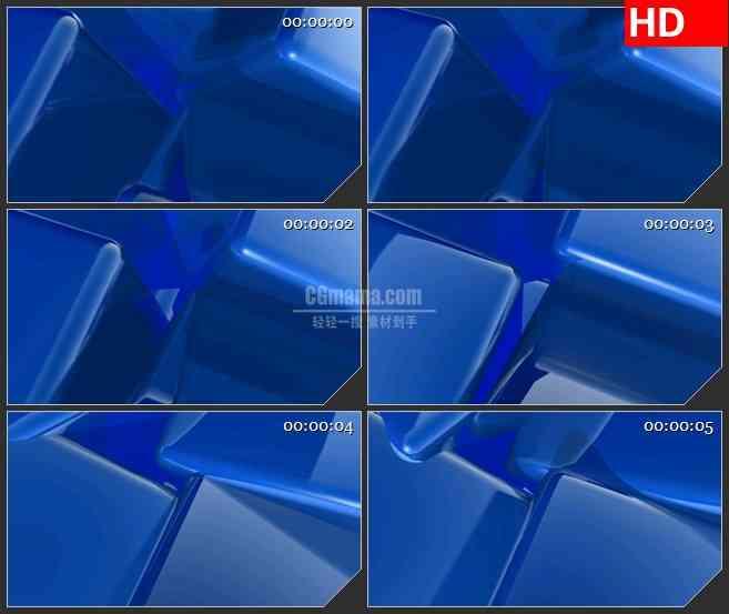 BG2419蓝色盒子旋转高清led大屏视频背景素材