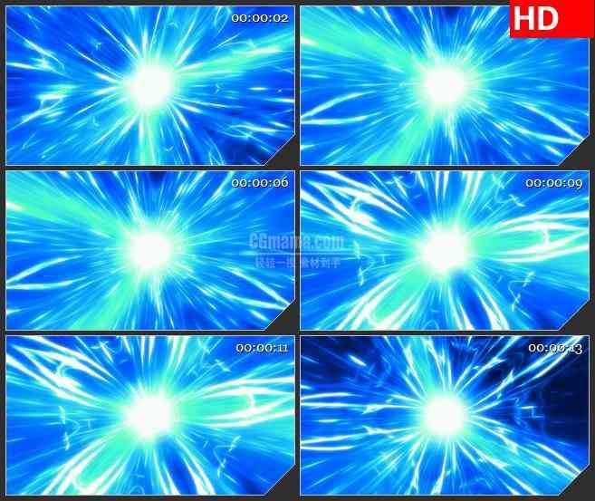 BG2421蓝色花能量旋涡旋转高清led大屏视频背景素材
