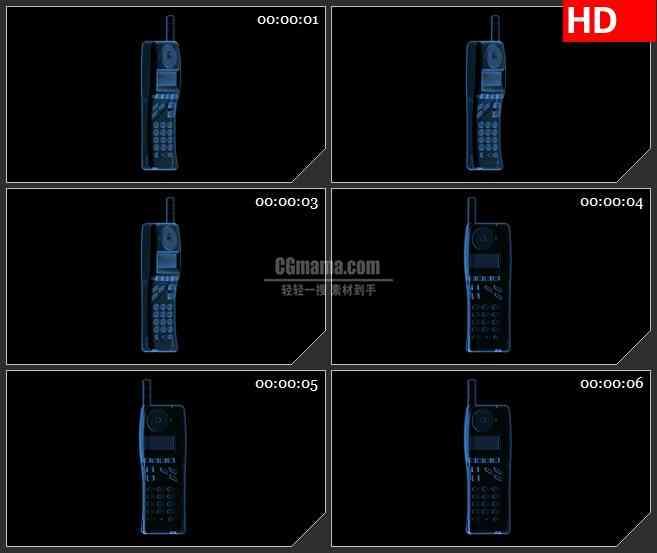 BG2432蓝色透明手机旋转高清led大屏视频背景素材